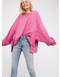 Free People | Pink On My Mind Pullover | Lyst