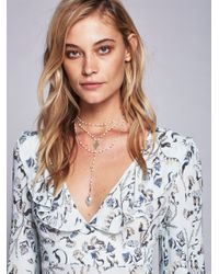 Free People - Blue Paint The Sky Rosary Necklace - Lyst