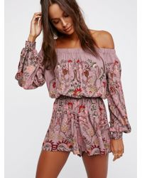 Free People | Purple Pretty And Free One Piece | Lyst