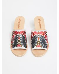 Free People - Multicolor Riviera Embroidered Mule - Lyst