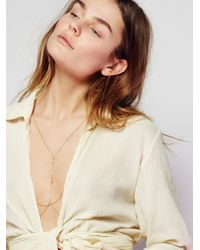 Free People   Natural Roxxi Delicate Opal Harness   Lyst