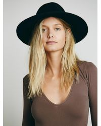 Free People - Brown Seamless Solid Deep V - Lyst