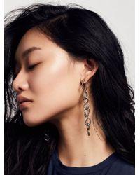 Free People | Metallic Serpent Link Ear Jackets | Lyst