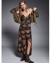 Free People | Multicolor Into You Printed Slip Dress | Lyst