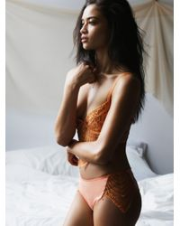 Free People | Orange Snapdragon Cheeky Undie | Lyst