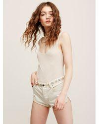 Free People | Natural So Fresh Mesh Bodysuit | Lyst