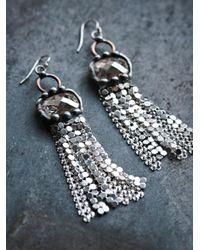 Free People - Metallic Solar Sunrise Chainmail Earring - Lyst