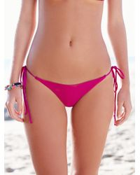 Free People | Multicolor Solid Tie Side Bottoms Simply Triangle Top | Lyst