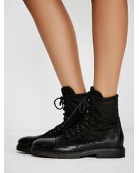 Free People - Black Sparrow Lace Up Boot - Lyst