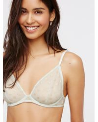 Free People | Multicolor Star Mesh Triangle Underwire Bra | Lyst