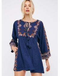 Free People | Blue Starlight Mini Dress | Lyst