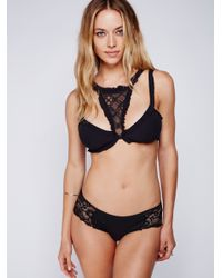 Free People - Black Deep In The Dark Bandeau Bra - Lyst