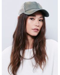 Free People | Gray Sunbleached Ball Cap | Lyst