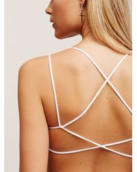 Free People - White Sunkissed Strappy Back - Lyst