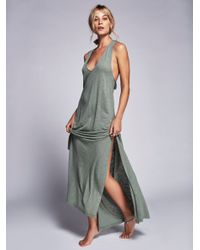 Free People | Gray Sunset Stroll Maxi | Lyst