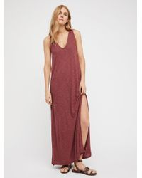 Free People | Red Sunset Stroll Maxi | Lyst
