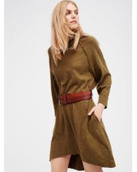 Free People   Brown Terri Cocoon Pullover   Lyst