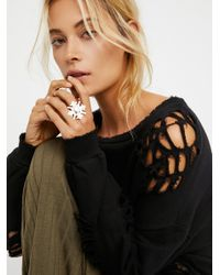 Free People | Metallic The Sovereign Star Ring | Lyst