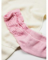 Free People | Pink Track Star Scrunchy Sock | Lyst