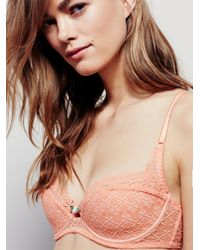 Free People | Pink Tres Jolie Lace Bra | Lyst