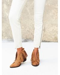 Free People | Brown Tulsi Fringe Boot | Lyst