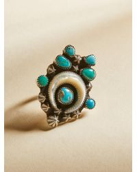 Free People | Multicolor Turquoise Horn Ring | Lyst
