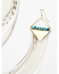 Free People - Multicolor Turquoise Stone Feather Dusters - Lyst