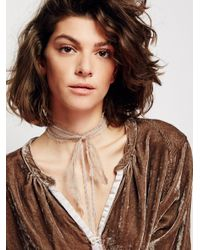Free People | Metallic Valentina Chained Scarf Necklace | Lyst