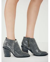 Free People - Blue Vegan Addison Heel Boot - Lyst