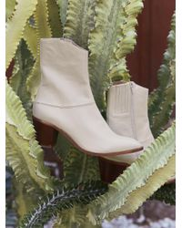Free People - White Vegan Arcadia Ankle Boot - Lyst