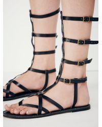 Free People - Black Vegan Noveau Mid Gladiator Sandals - Lyst
