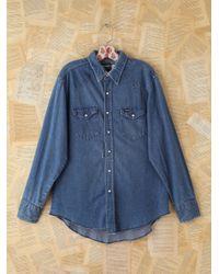 Free People | Blue Vintage Wrangler Denim Shirt | Lyst