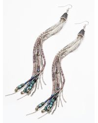 Free People | Metallic Avondayle X Womens Watercolors Shoulder Duster | Lyst