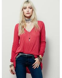 Free People | Pink We The Free Anna Tee | Lyst