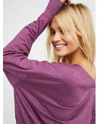 Free People - Purple We The Free Saratoga Top - Lyst