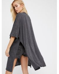 Free People | Black We The Free Solid City Slicker Tunic | Lyst