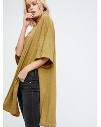 Free People | Green We The Free Solid City Slicker Tunic | Lyst