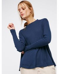 Free People | Blue We The Free Wander Mock Neck Tee | Lyst
