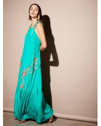 Free People | Green Windsong Maxi Dress | Lyst