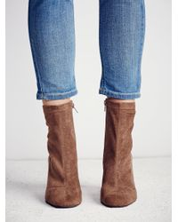 Free People - Brown World Tour Ankle Boot - Lyst