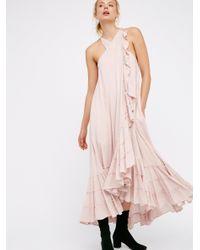 Free People | Pink Wrap Around Maxi Dress | Lyst