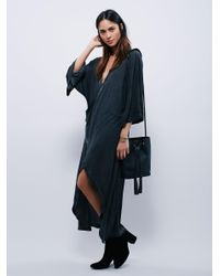 Free People | Black Wrapped Up In You Kimono | Lyst