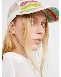 Free People | Multicolor Ziggy Straw Baseball Hat | Lyst