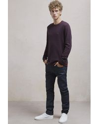 French Connection - Blue Double Stripe Long Sleeved Top for Men - Lyst