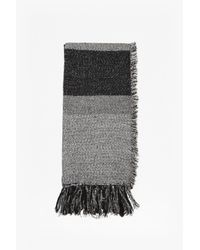 French Connection - Gray Pippa Tweed Scarf - Lyst