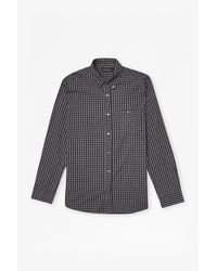 French Connection - Black Checked Washed Ls for Men - Lyst
