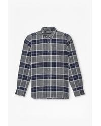 French Connection   Natural Large Check Flannel Shirt for Men   Lyst