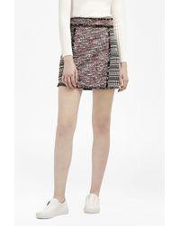 French Connection   Black Pixel Mix Cotton Mini Skirt   Lyst