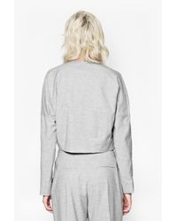 French Connection - Gray Sonia Suiting Boxy Jacket - Lyst