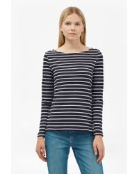 French Connection   Blue Tim Tim Long Sleeve Striped Top   Lyst